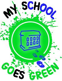 my school goes green Logo